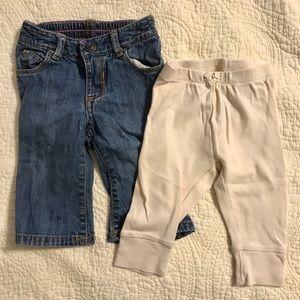 Girls jeans and leggings. EUC